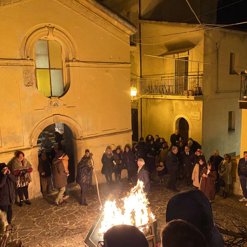 Falò di Sant'Antonio Abate Rende Centro StoricoIMG_0400_50p