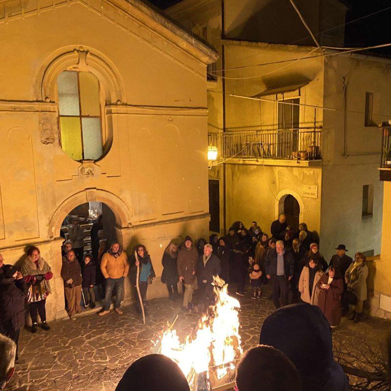 Falò di Sant'Antonio Abate Rende Centro StoricoIMG_0401_50p