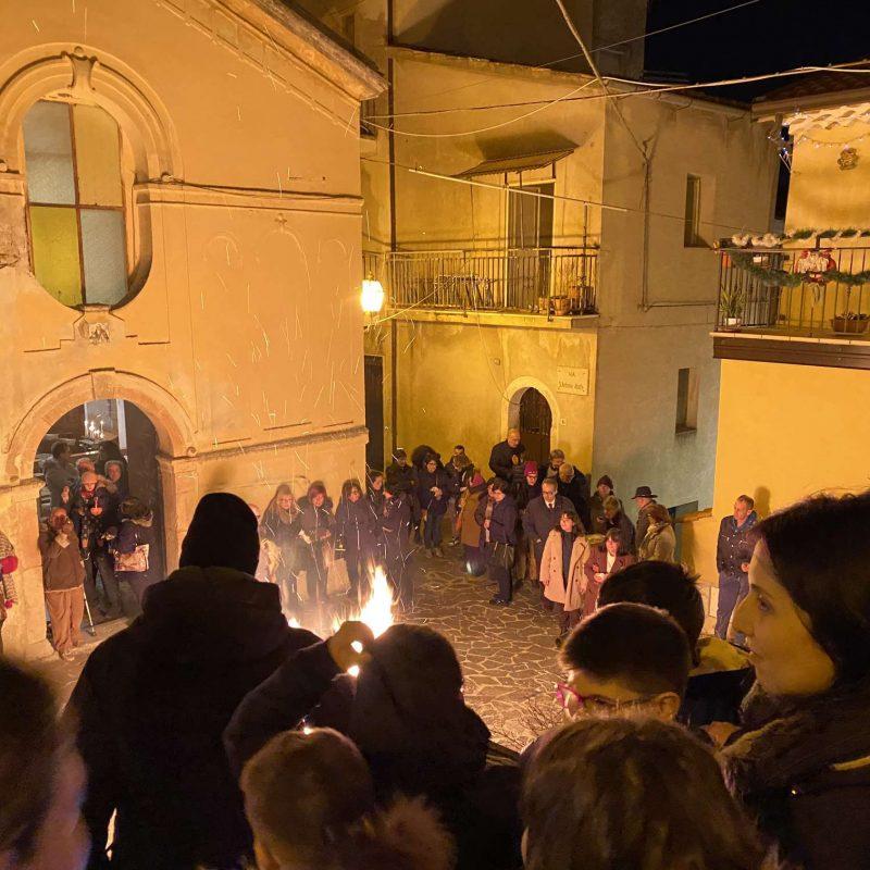 Falò di Sant'Antonio Abate Rende Centro StoricoIMG_0396_50p