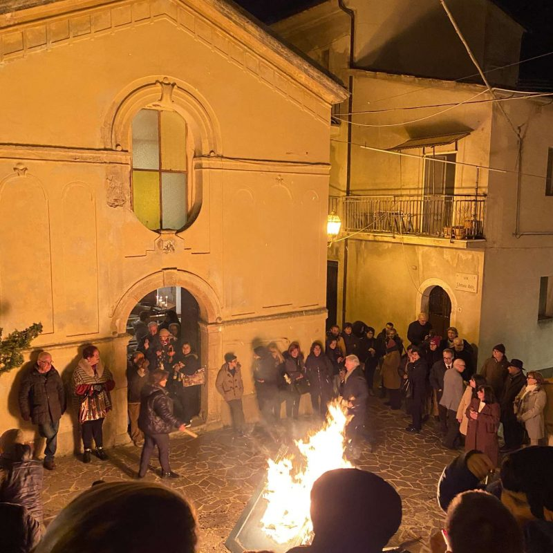 Falò di Sant'Antonio Abate Rende Centro StoricoIMG_0397_50p