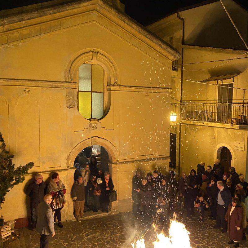Falò di Sant'Antonio Abate Rende Centro StoricoIMG_0406_50p